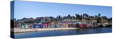 Colorful Buildings and Beach in Capitola, Santa Cruz County, California, USA