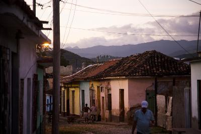 Colorful Buildings in the Small Town of Trinidad, Cuba-Michael Hanson-Photographic Print
