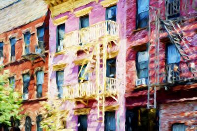Colorful Buildings - In the Style of Oil Painting-Philippe Hugonnard-Giclee Print