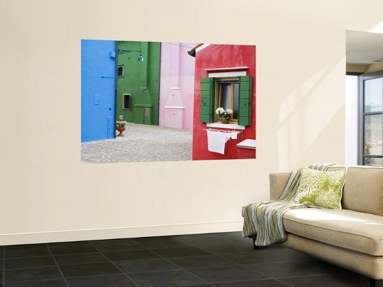 Colorful Burano City Homes, Italy-Terry Eggers-Wall Mural