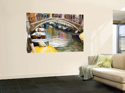 Colorful Burano City Homes Reflecting in the Canal, Italy-Terry Eggers-Wall Mural