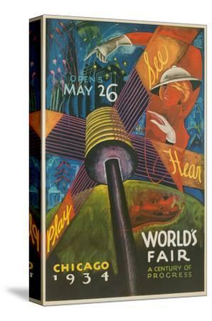Colorful Chicago Worlds Fair Poster