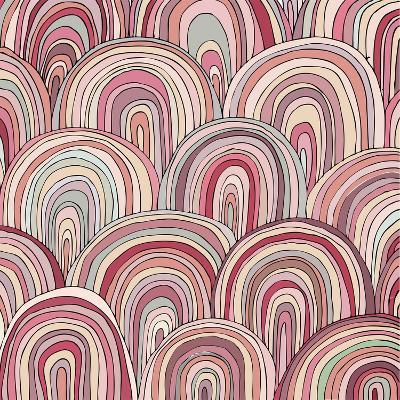 Colorful Circle Modern Abstract Design Pattern-Melindula-Art Print