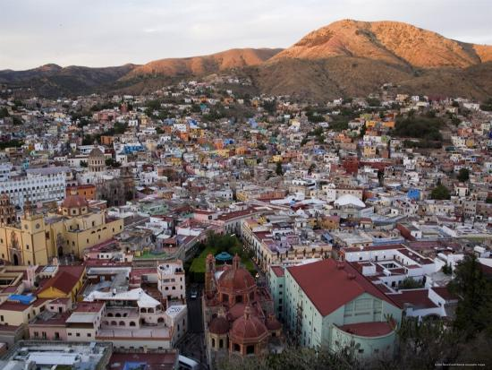 Colorful Colonial Architecture of Guanajuato Mexico at Sunset-David Evans-Photographic Print