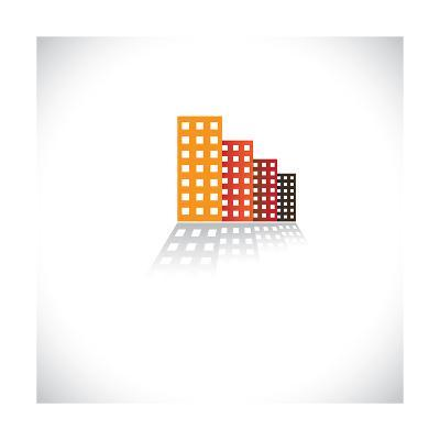Colorful Commercial Buildings,Offices, Apartments-smarnad-Art Print