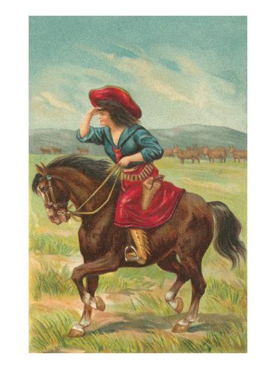 Colorful Cowgirl--Art Print