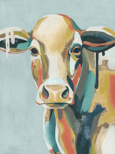 Colorful Cows I-Grace Popp-Art Print