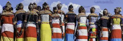 Colorful Customs and Necklaces of Rendille and Samburu Tribe Women in a Celebration Gathering-Babak Tafreshi-Photographic Print