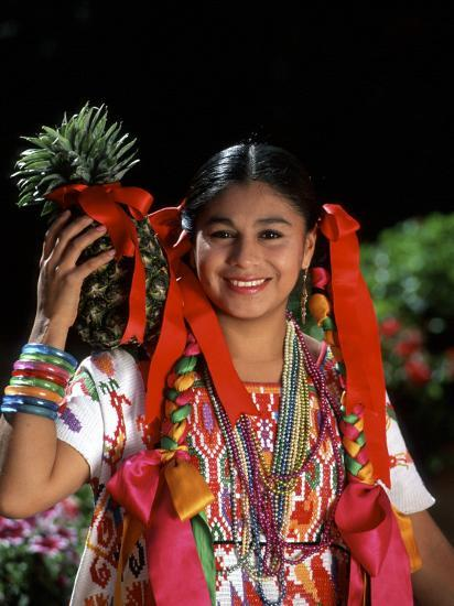 Colorful Dancer, Tourism in Oaxaca, Mexico-Bill Bachmann-Photographic Print