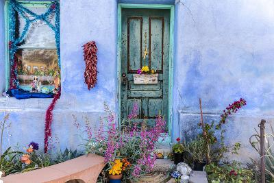 Colorful Doorway in the Barrio Viejo District of Tucson, Arizona, Usa-Chuck Haney-Photographic Print