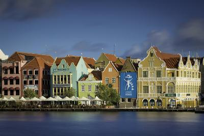 Colorful Dutch Architecture Lines the Wharf at Willemstad, Curacao, West Indies-Brian Jannsen-Photographic Print