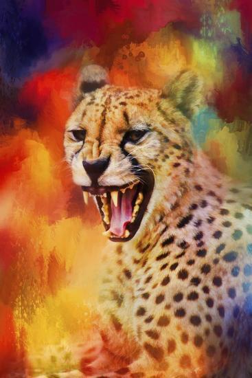 Colorful Expressions Cheetah 2-Jai Johnson-Giclee Print
