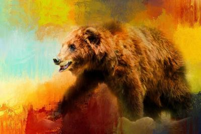 Colorful Expressions Grizzly Bear-Jai Johnson-Giclee Print