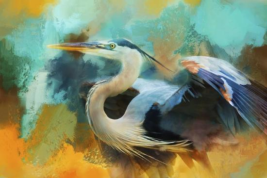 Colorful Expressions Heron-Jai Johnson-Giclee Print
