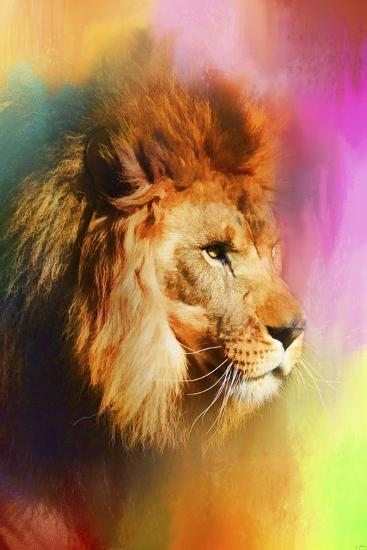 Colorful Expressions Lion-Jai Johnson-Giclee Print