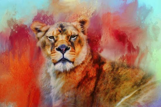 Colorful Expressions Lioness-Jai Johnson-Giclee Print