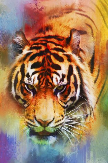 Colorful Expressions Tiger-Jai Johnson-Giclee Print