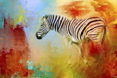 Colorful Expressions Zebra-Jai Johnson-Giclee Print