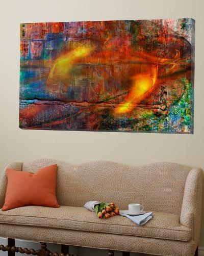 Colorful Fire Abstract-Jean-Fran?ois Dupuis-Loft Art