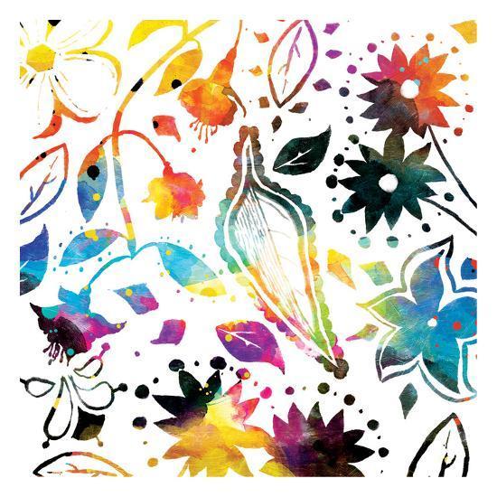Colorful Florals-Jace Grey-Art Print