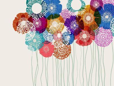 Colorful Flower Background, Eps10 Vector-Anita Ponne-Art Print