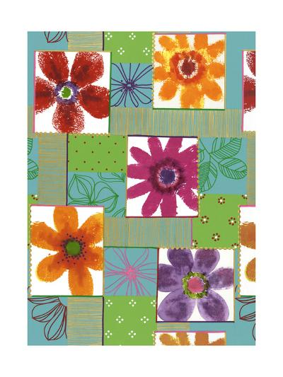 Colorful Flowers in Boxes--Art Print