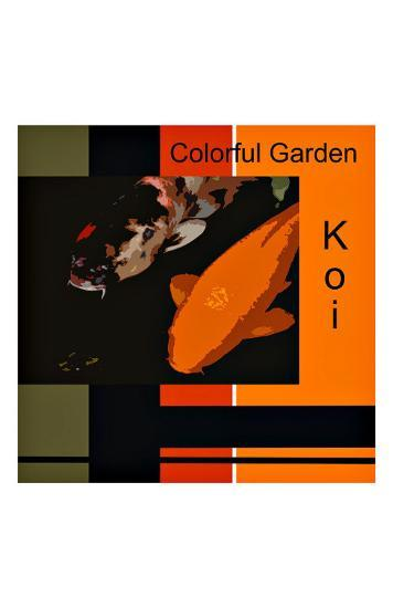 Colorful Garden Koi-erichan-Giclee Print