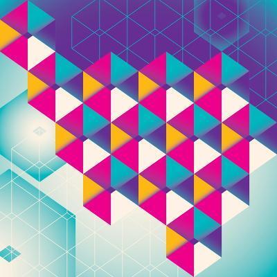 Colorful Geometric Abstraction. Vector Illustration.-Radoman Durkovic-Art Print