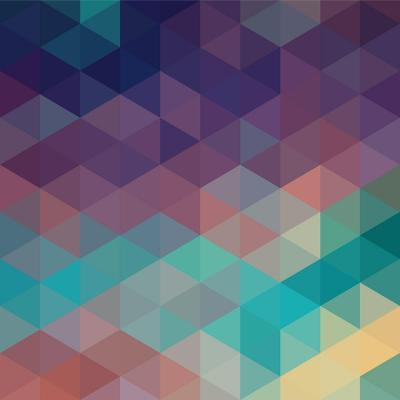 Colorful Geometric Background with Triangles. Vector EPS 10.-Olha Kostiuk-Art Print