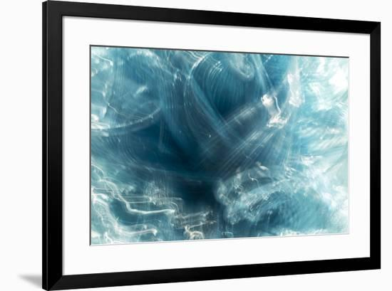 Colorful glass with blurred motion effect.-Stuart Westmorland-Framed Premium Photographic Print