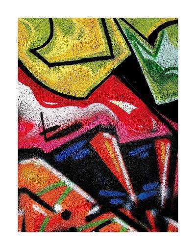 Colorful Graffiti (detail-Jenny Kraft-Art Print