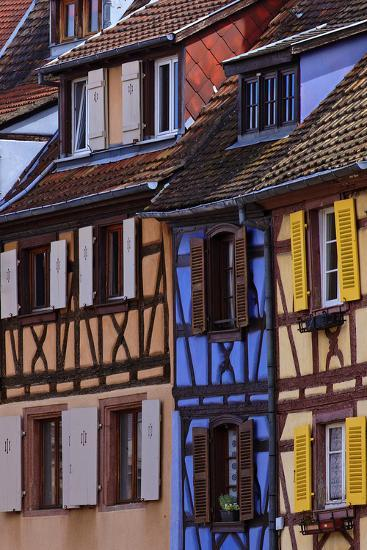 Colorful Half-Timbered Homes in Petite Venice, the Old Town of Colmar, France-Babak Tafreshi-Photographic Print