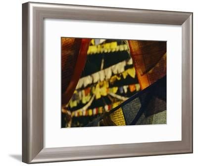 Colorful Hanging Buddhist Prayer Flags-Bobby Model-Framed Photographic Print
