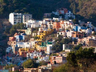 Colorful Hillside Houses, Guanajuato, Mexico-Julie Eggers-Photographic Print