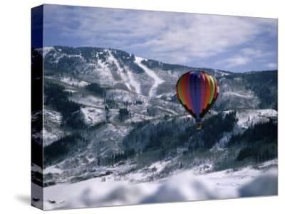Colorful Hot Air Balloon in Winter