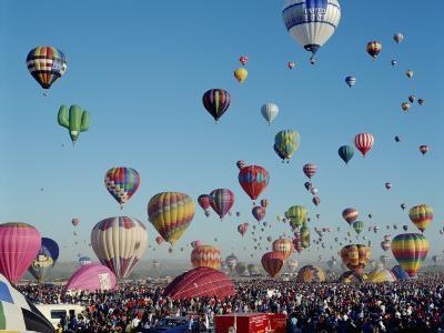 Colorful Hot Air Balloons, Albuquerque Balloon Fiesta, Albuquerque, New Mexico, USA--Photographic Print
