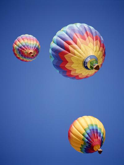 Colorful Hot Air Balloons in Sky, Albuquerque, New Mexico, USA--Photographic Print