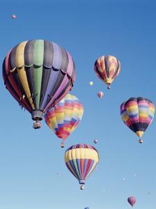 Colorful Hot Air Balloons in Sky, Albuquerque, New Mexico, USA