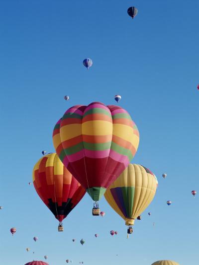 Colorful Hot Air Balloons in Sky, Albuquerque, New Mexico, USA--Photographic Print