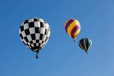 Colorful Hot Air Balloons on a Sunny Day-flippo-Photographic Print