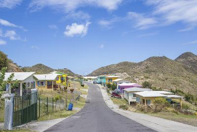 Colorful Houses of a Village on a Spring Sunny Day, Montserrat, Leeward Islands-Roberto Moiola-Photographic Print