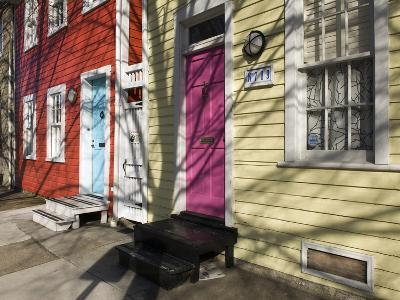 Colorful Houses on South Ann Street in the Fell's Point Neighborhood-Krista Rossow-Photographic Print