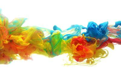Colorful Ink in Water-SSilver-Photographic Print