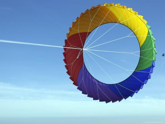 Colorful Kite Flying in Sky at Beach, Romo, Denmark-Brimberg & Coulson-Photographic Print