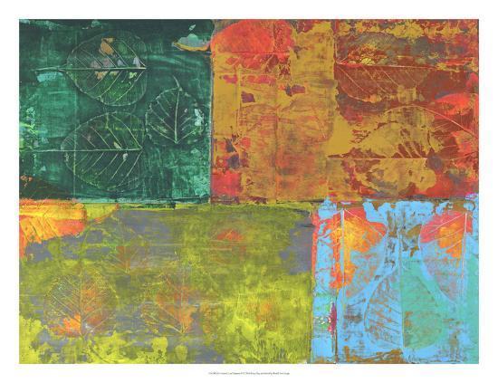 Colorful Leaf Imprint II-Elena Ray-Art Print