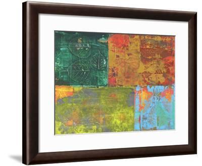Colorful Leaf Imprint II-Elena Ray-Framed Art Print