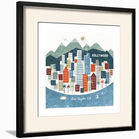 Colorful Los Angeles-Michael Mullan-Framed Photographic Print