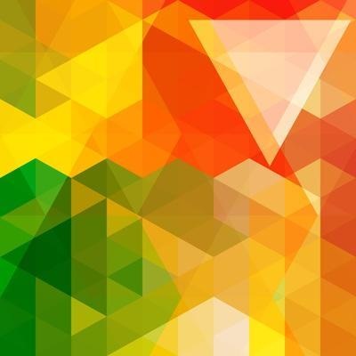 Colorful Mosaic Background Made Of Triangle Shapes-OlgaYakovenko-Art Print