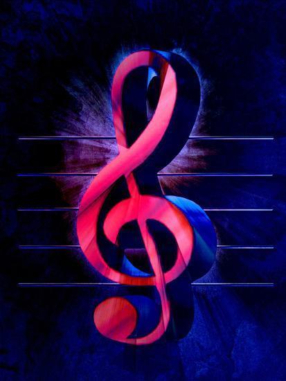 Colorful Music Clef Style-Wonderful Dream-Art Print