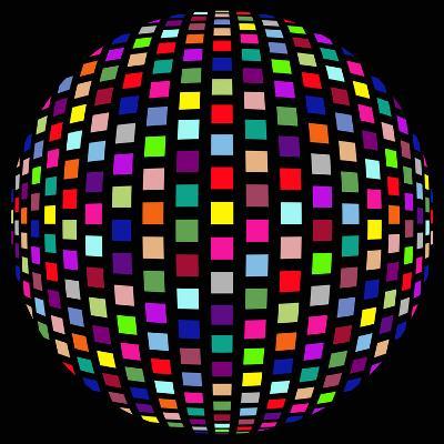 Colorful Party Light on Black Background-anasztazia-Art Print